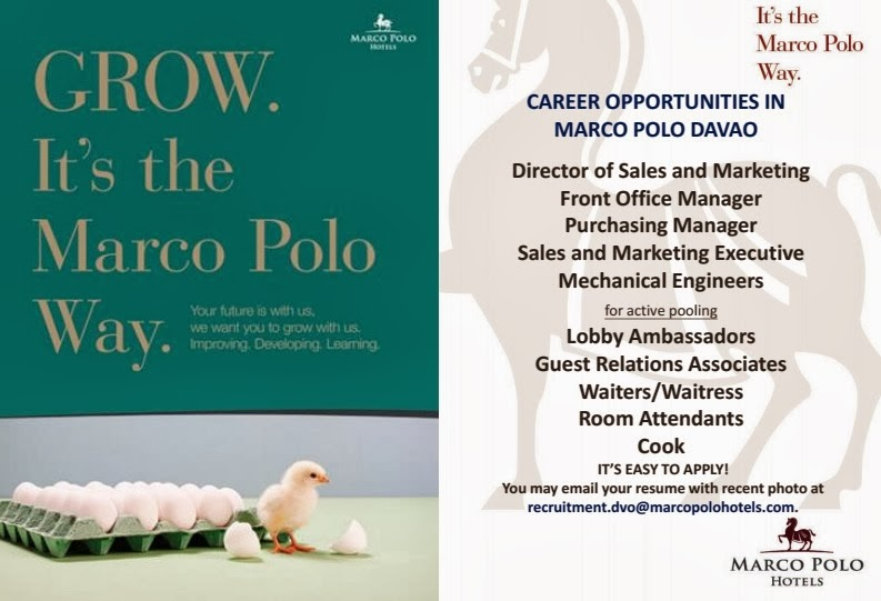 Career Opportunities In Marco Polo Davao