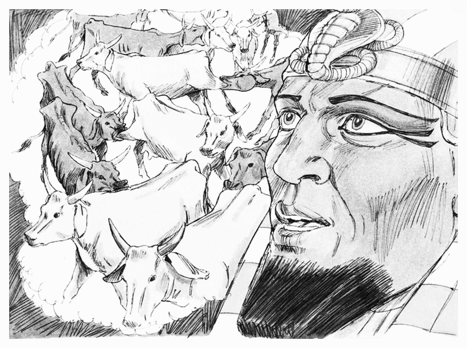 joseph pharaohs dreams coloring pages - photo#16