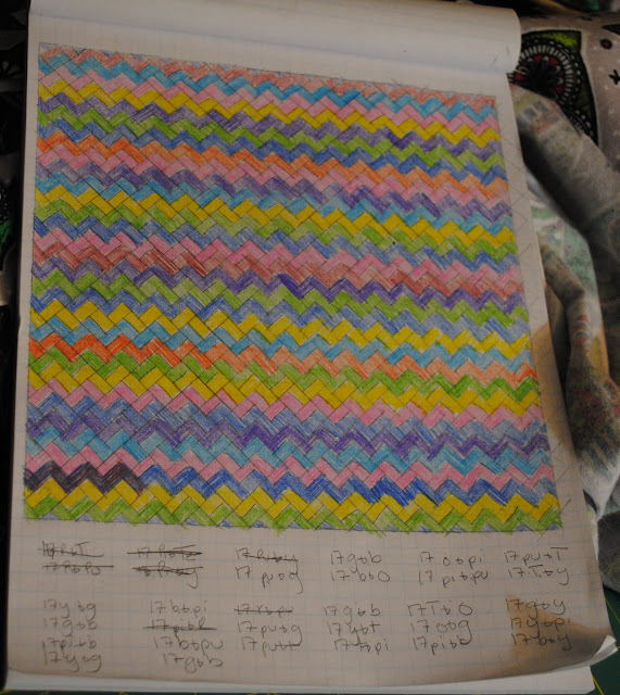 plan for scrappy chevron quilt