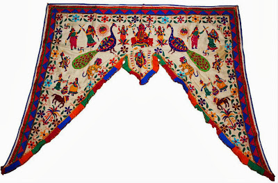 embroidery of gujarat , toran