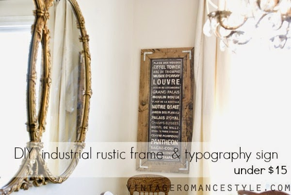 How To Make An Industrial Rustic Frame Typography Sign For 15