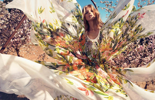 Advertising inspiration, flower trend, spring summer 2013 on Design and fashion recipes