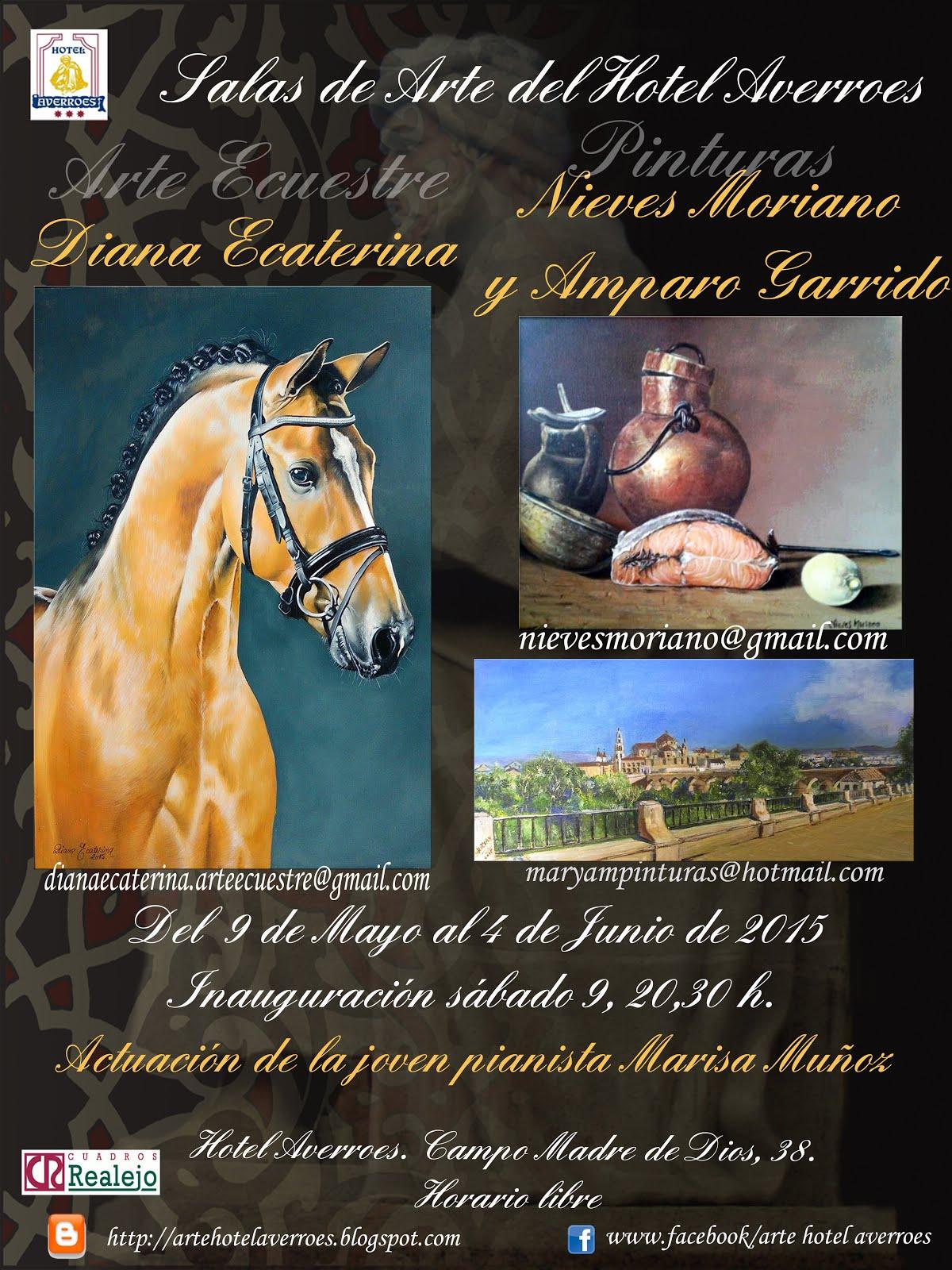 Mayo: Diana Ecaterian Arte Ecuestre (Sala peuqeña) y Nieves Moriano y Amparo Garrido (sala Grande)