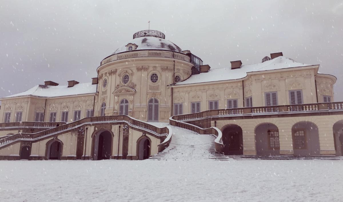 Winter Schnee Schloss Solitude Stuttgart