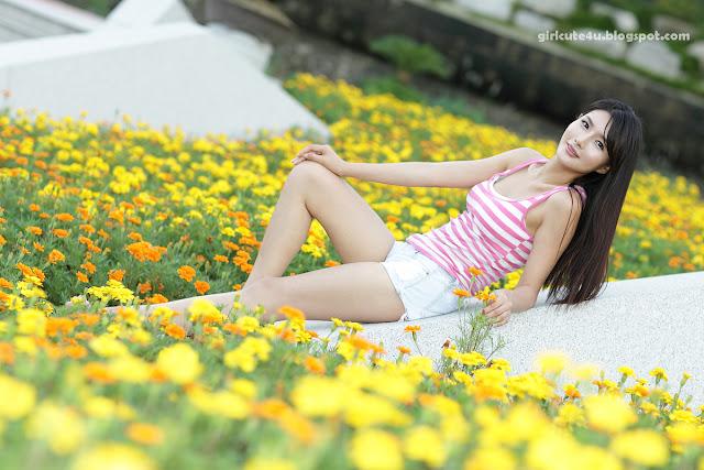 3 Cha Sun Hwa-White and Pink-very cute asian girl-girlcute4u.blogspot.com