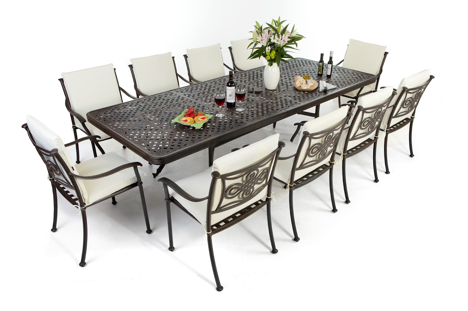 Garden Furniture 6 Chairs 8 seat patio table savannah 8 seater rattan outdoor patio garden