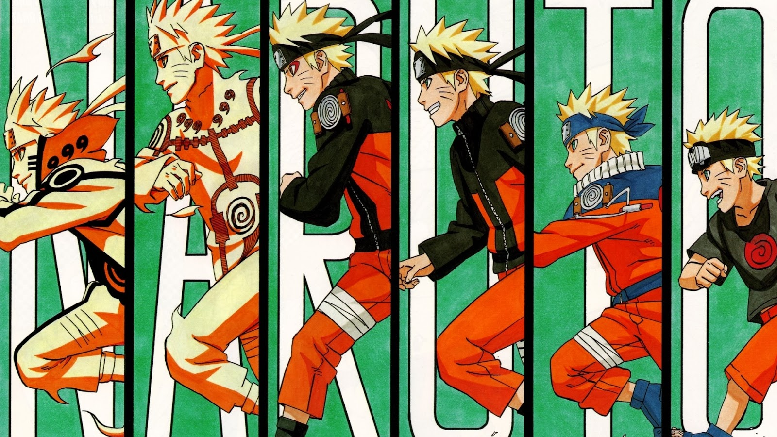 Naruto Shippuden Wallpapers - Evolution of Naruto