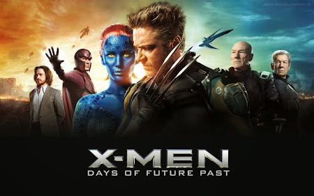 Poster Of X Men Days of Future Past (2014) In Hindi English Dual Audio 300MB Compressed Small Size Pc Movie Free Download Only At