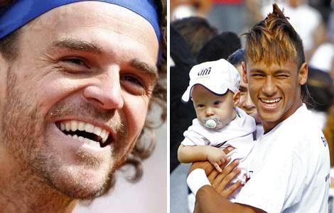 Neymar e Guga, foto de Neymar e seu filho Davi