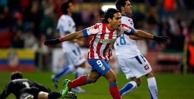 Falcao celebra un gol ante el deportivo