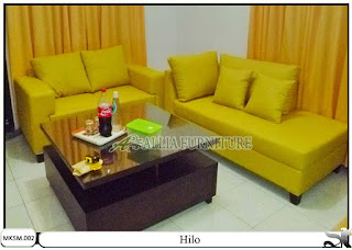 Kursi sofa set minimalis model hilo