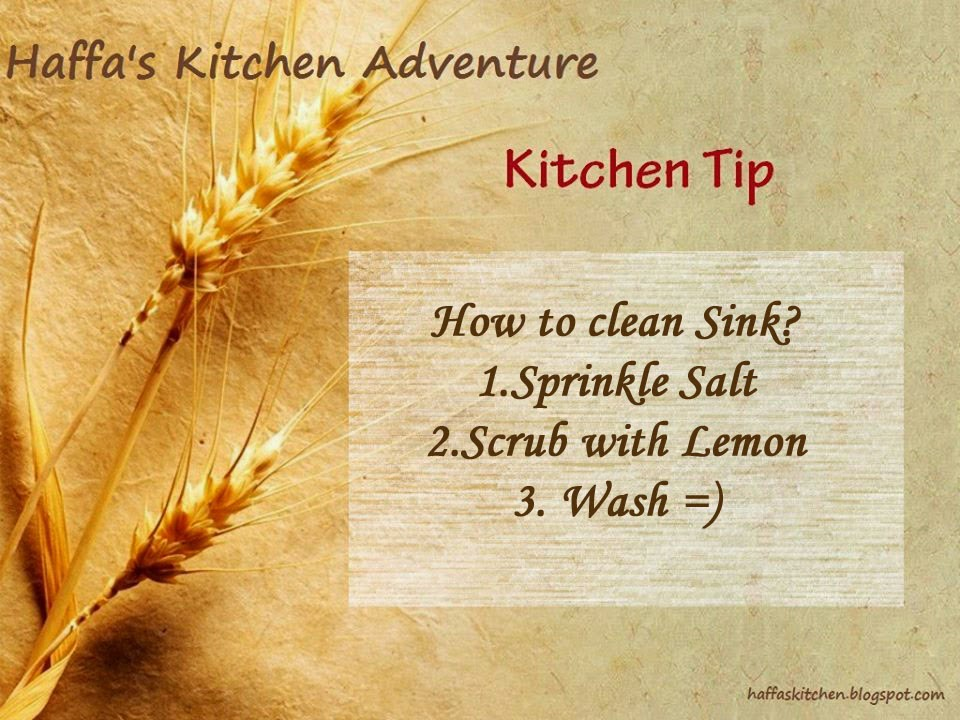 haffas kitchen tips, Kitchen tips, How to clean a sink,