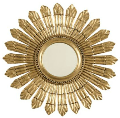 gold, round, mirror, design, classic