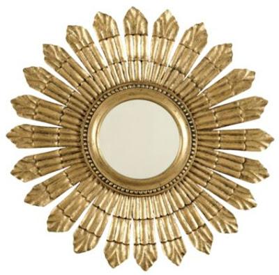 gold, round, mirror, design, classic