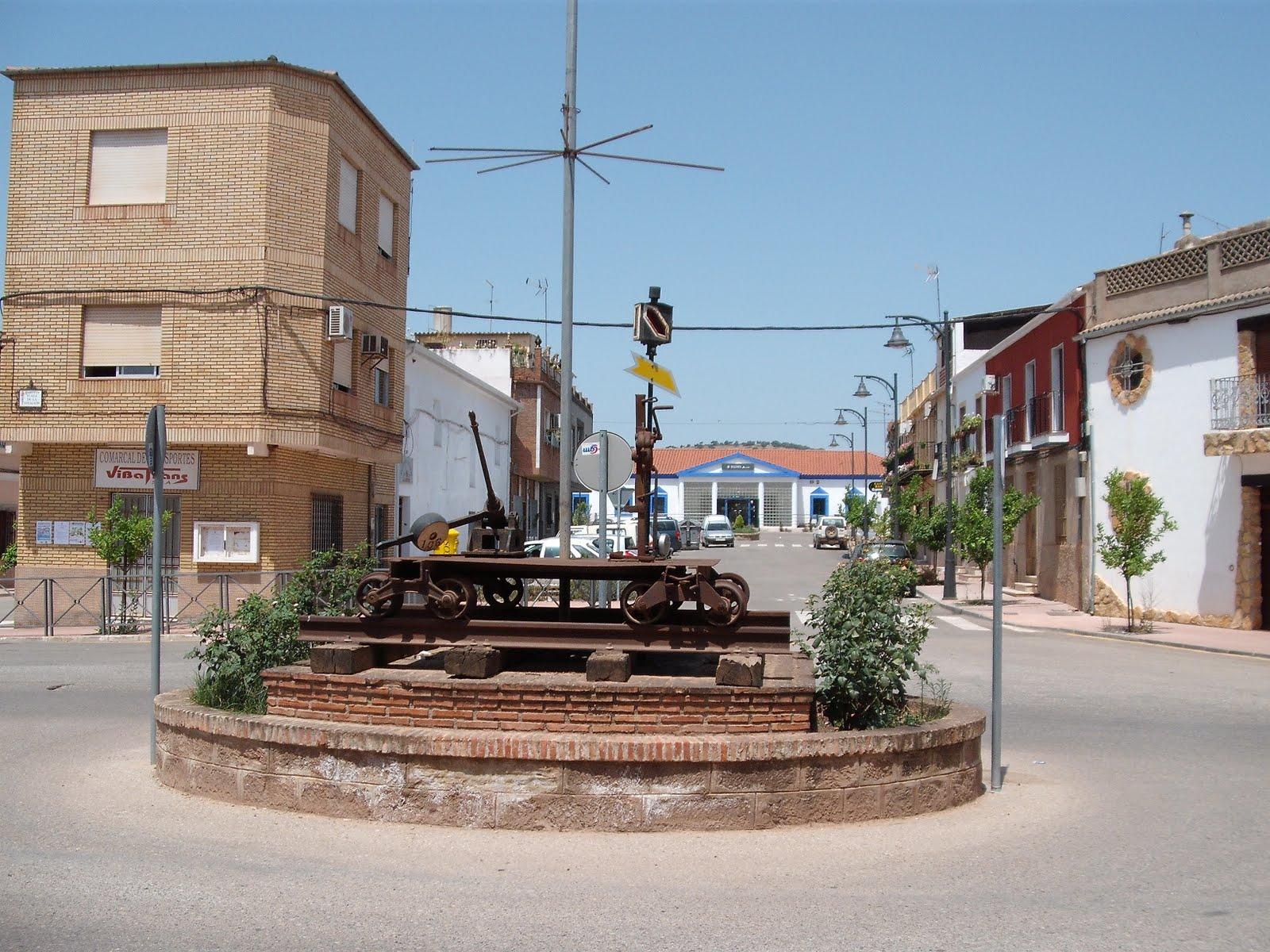 Barrio de la Estación de Vilches #376A94 1600x1200