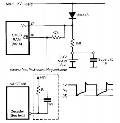 Build a Stand by Power Circuit Diagram for Non Volatile Cmos Rams Circuit diagram