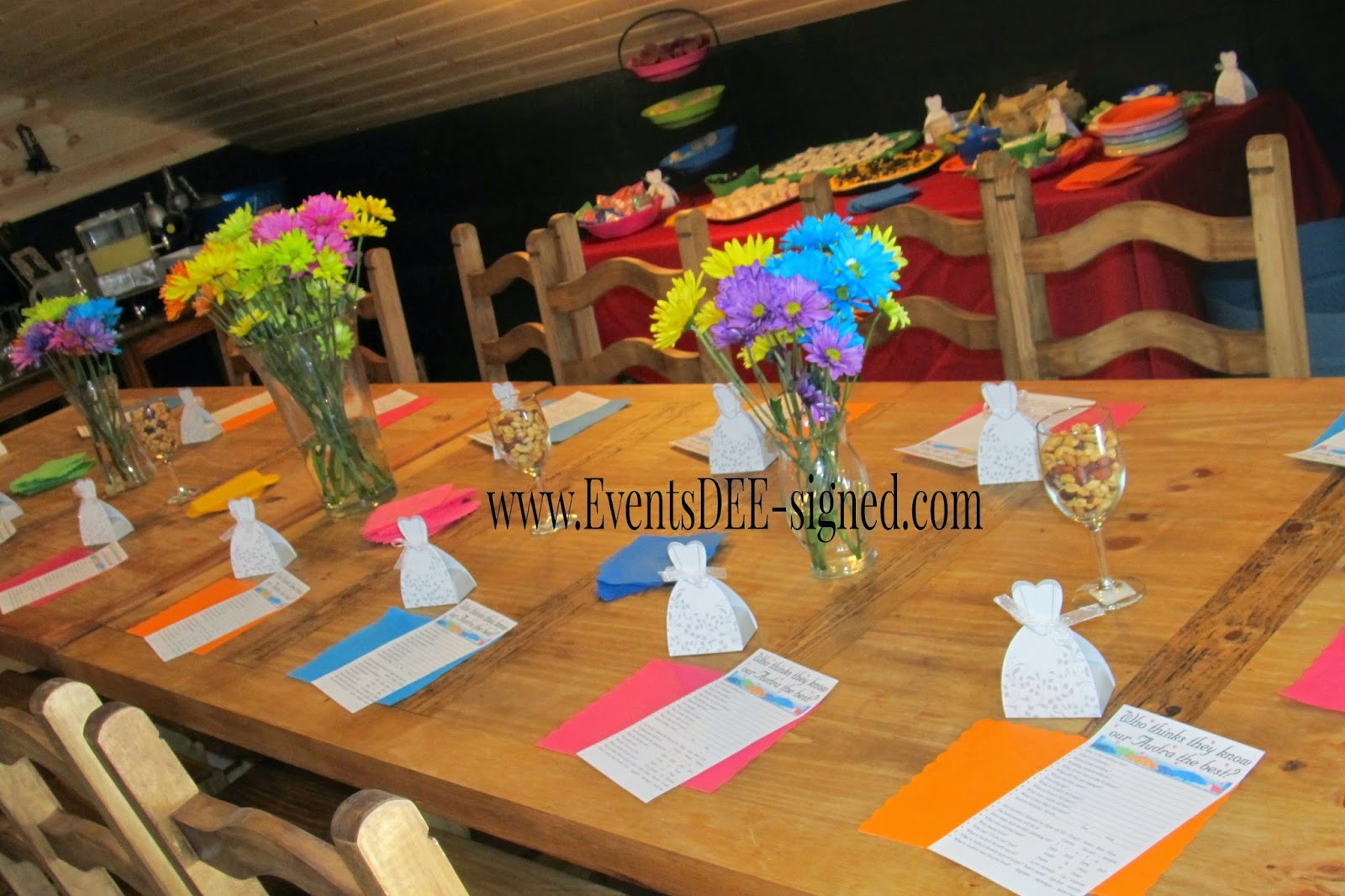 EventsDEE-signed Bridal Shower wedding planning, event planning, party planning, multi-colored
