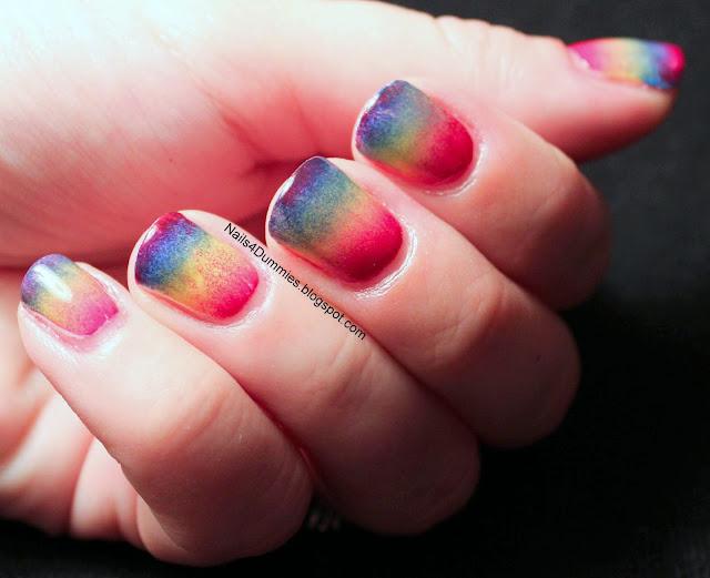 Rainbow gradient mani