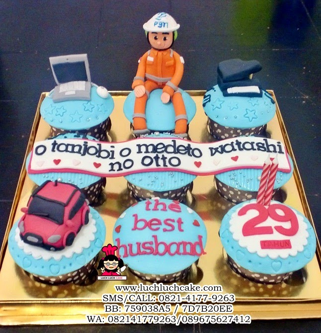 Cupcake Ulang Tahun Untuk Suami Daerah Surabaya - Sidoarjo