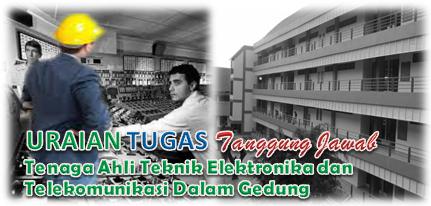 Uraian Tugas Dan Tanggung Jawab Tenaga Ahli Teknik Elektronika dan Telekomunikasi Dalam Gedung
