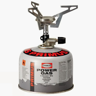 primus express stove shown in location on gas bottle