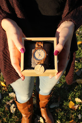 Jord Zebrawood & Maple Fieldcrest Watch