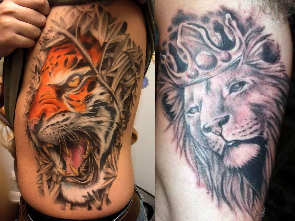 Top tattoos pictures lion tattoos for Best lion tattoos