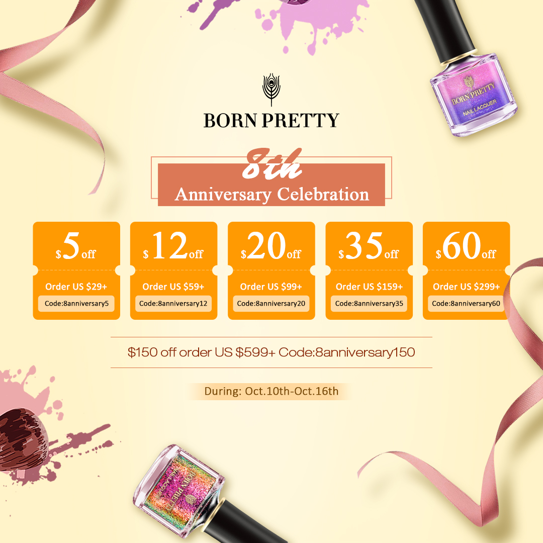 Cupons de descontos Born Pretty Store