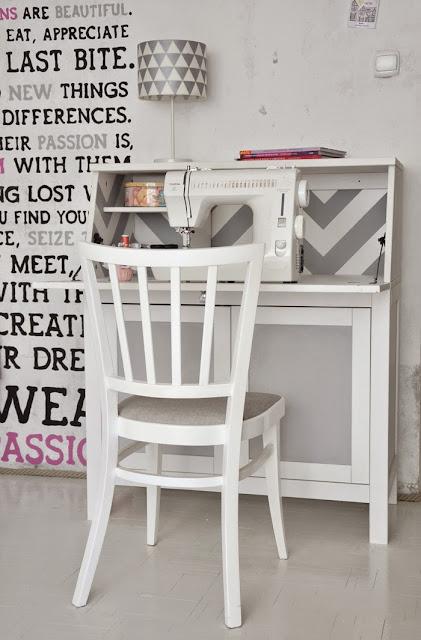 chevron and chalkboard on hemnes bureau ikea hackers. Black Bedroom Furniture Sets. Home Design Ideas