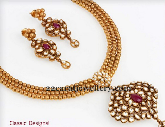Classic Gold Necklace Jewellery Designs
