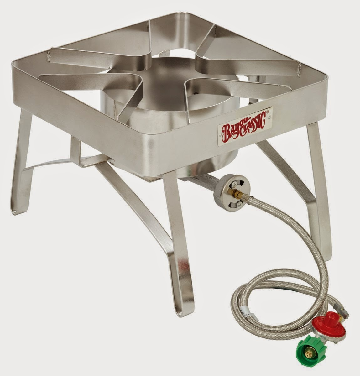 Bayou Classic SS84 Stainless Steel Brew Outdoor Gas Stove With Windscreen