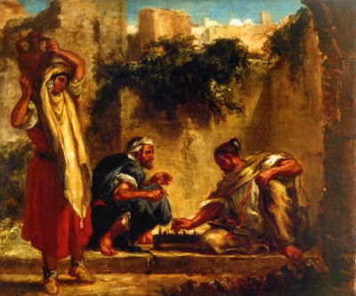 chess painting arabs playing chess eugene delacroix