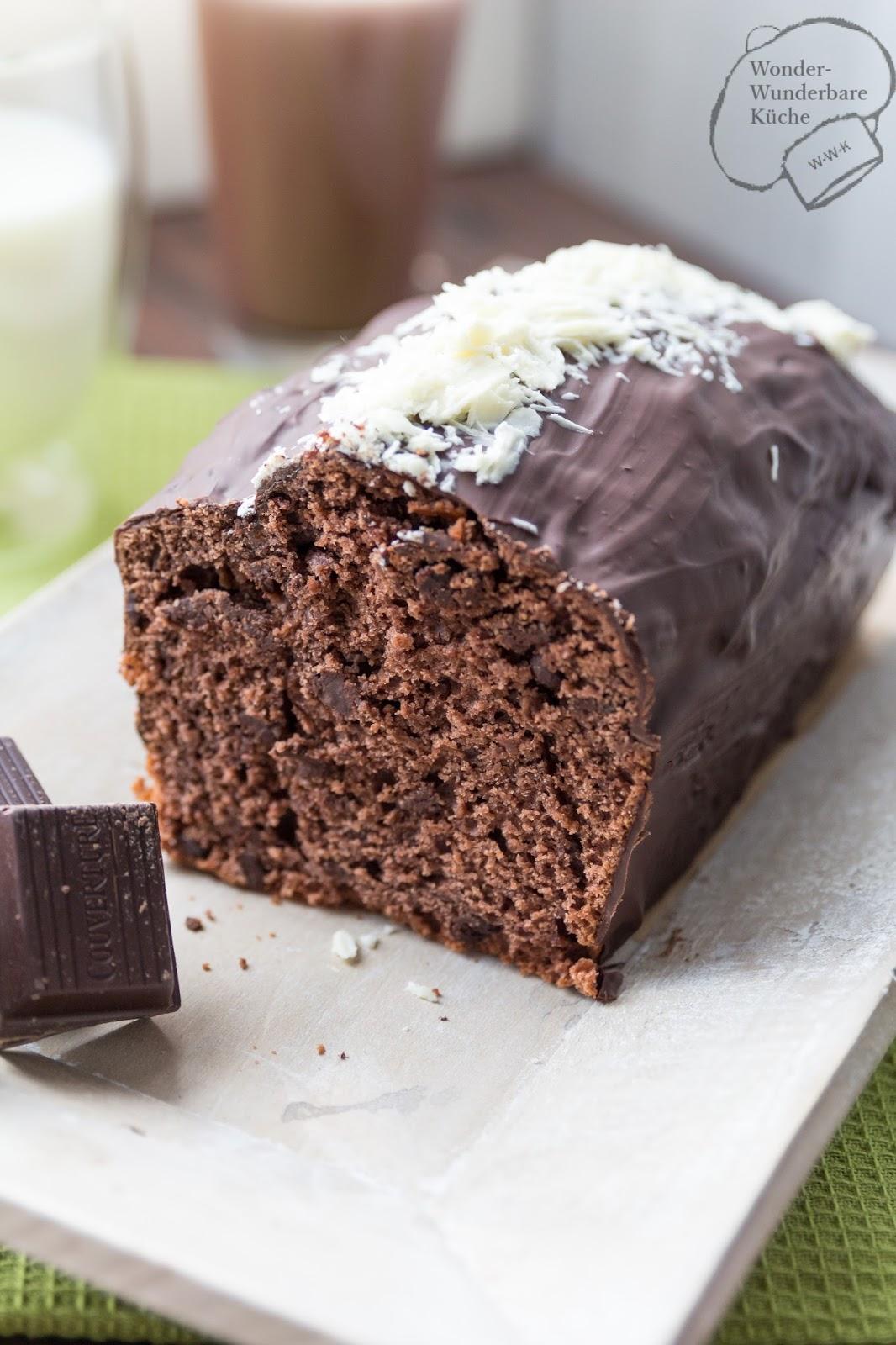 schokoladen buttermilch kuchen aus der kastenform. Black Bedroom Furniture Sets. Home Design Ideas