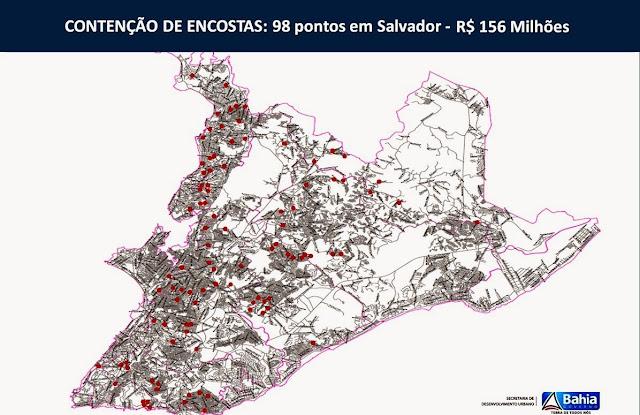 GOVERNO DO ESTADO INVESTE R$ 156 MILHÕES EM CONTENÇÃO DE ENCOSTAS EM SALVADOR