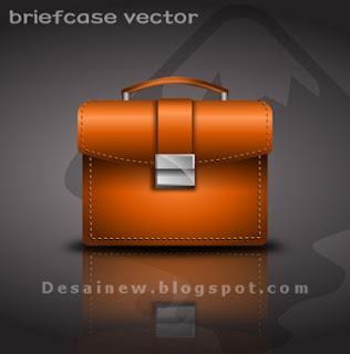 Desain Vektor Tas Kantor atau Briefcase di Inkscape