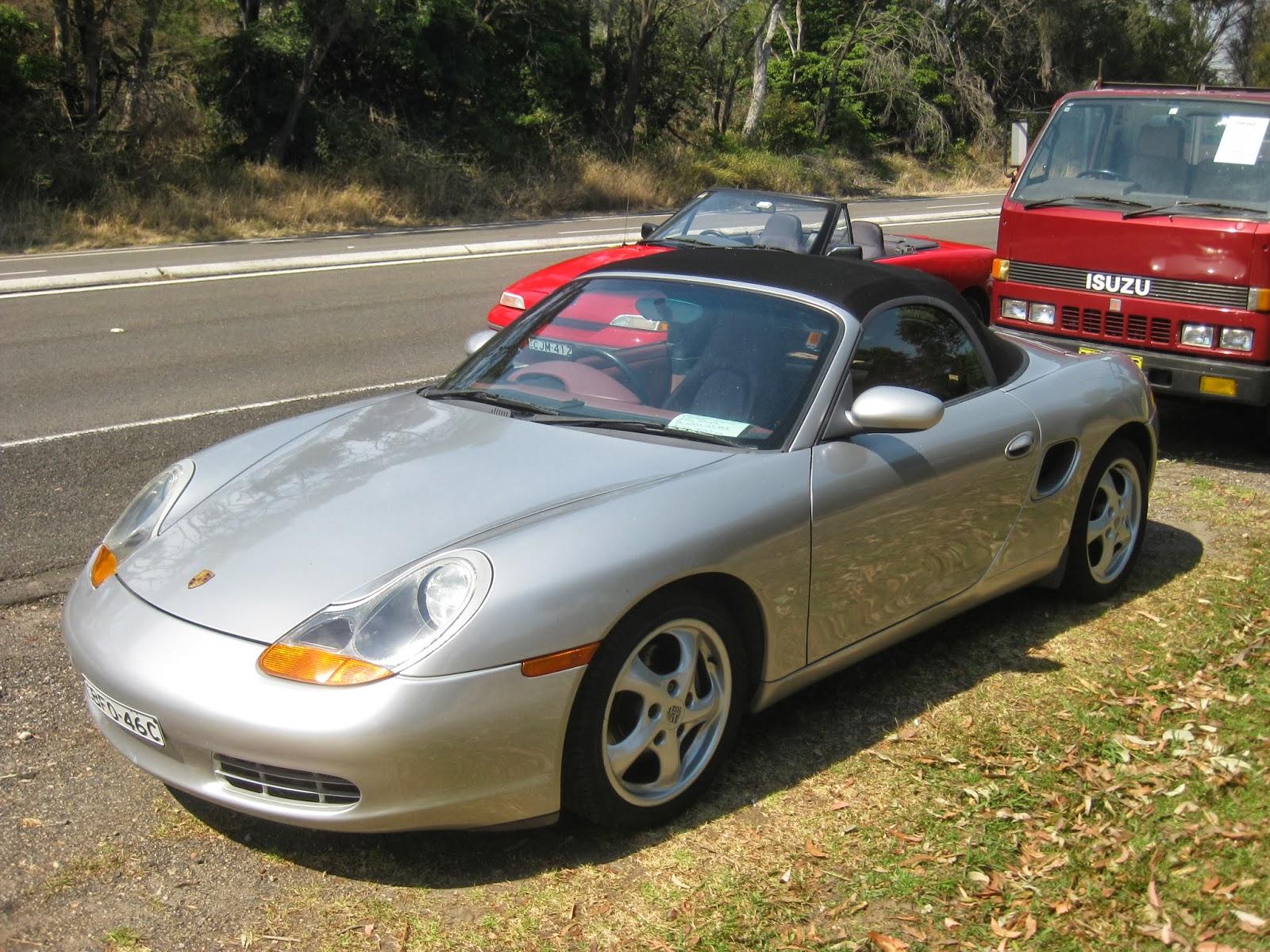 aussie old parked cars: 1997 porsche boxster