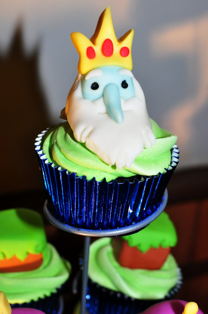 Heres a close-up of their nemesis, the Ice King!