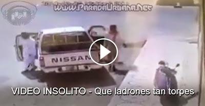 VIDEO INSOLITO - Estos ladrones son buenos candidatos al premio de los mas torpe del mundo