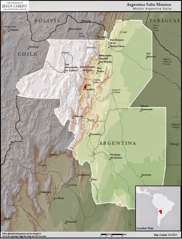 Argentina Salta Mission Boundaries