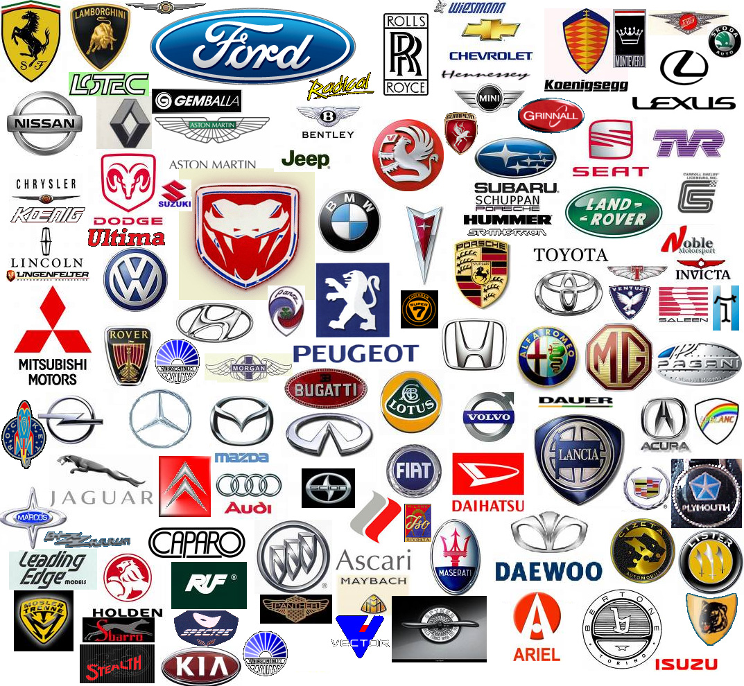 car logos and names
