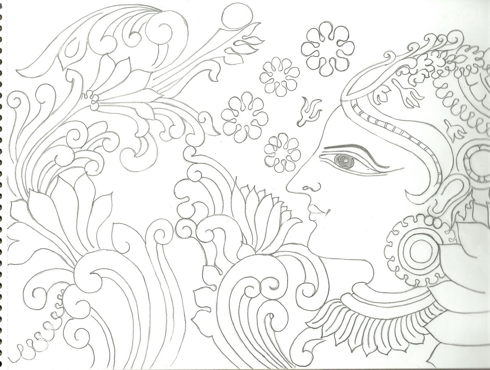 Varnavismayam few more drawings for Mural art designs