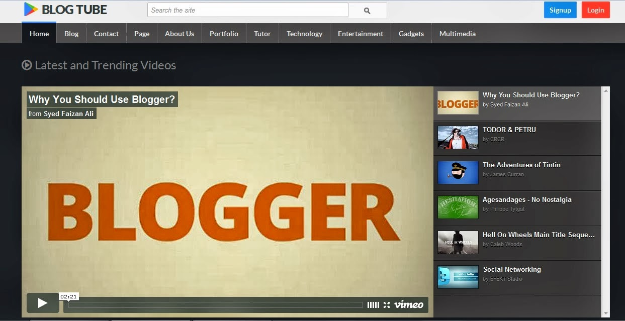 blogtube video blogger template 2014,video template,free blogger video template,white template,orange,online video player,youtube video blogger template