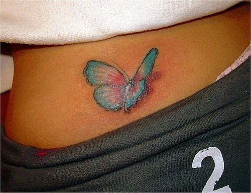 3d pale butterfly tattoo