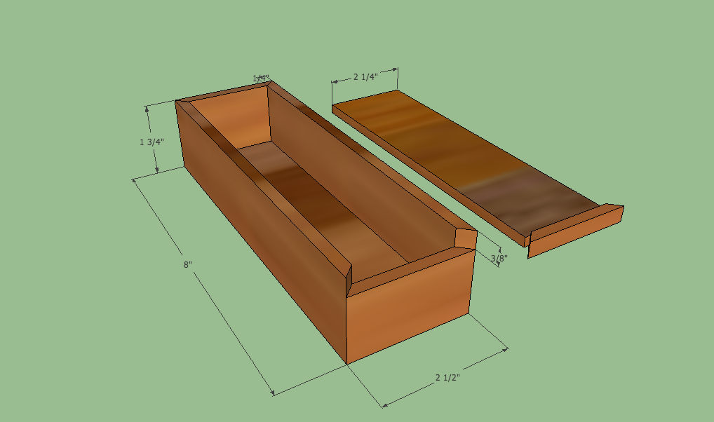 Wooden Pencil Box Plans