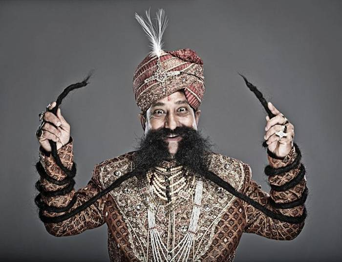 World's Longest Mustache Measures over 4 Meters
