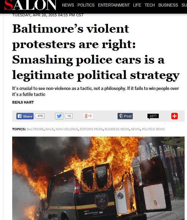 http://www.salon.com/2015/04/28/baltimores_violent_protesters_are_right_smashing_police_cars_is_a_legitimate_political_strategy/