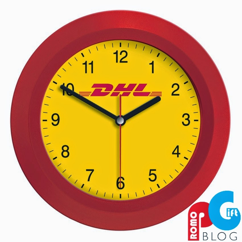 DHL Branded Wall Clock Promo Gift Blog
