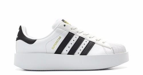 adidas superstar blancas con plataforma