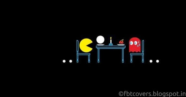 Facebook Covers: Pacman Funny Facebook Cover