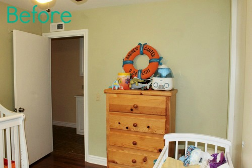Cute, bright boy's room, nautical theme!See the after pics  #nautical #boys_room #life_preserver
